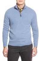 John W. Nordstrom Quarter Zip Cashmere Sweater (Regular & Tall)