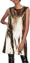 Maje Ror Sequin Shift Dress