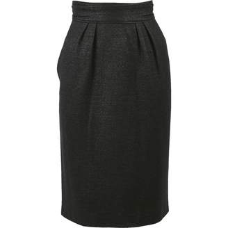 Saint Laurent Grey Wool Skirts