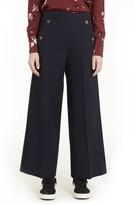 Valentino Women's Crop Wool Sailor Pants