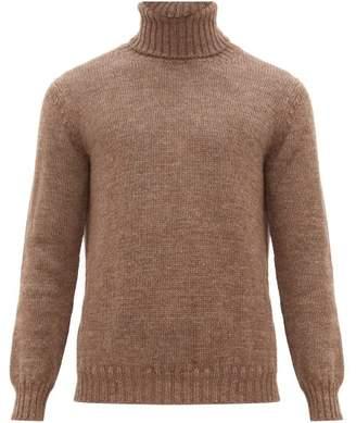 De Bonne Facture - Roll Neck Wool And Alpaca Sweater - Mens - Light Brown