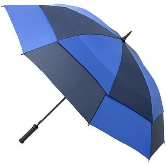 Fulton Stormshield Double Canopy Walker Umbrella, Blue