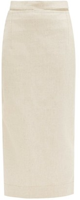 Jacquemus Valerie Canvas Pencil Skirt - Light Beige