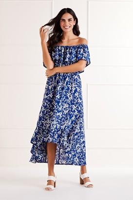 Yumi Bardot High Low Maxi Dress