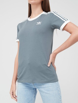 adidas 3 Stripe T-Shirt - Blue