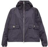 Moncler Acier Technical Gabardine Hooded Jacket - Womens - Navy