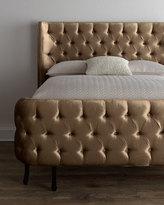 """Haute House Taupe Velvet """"Larkspur"""" King Bed"""