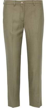 Versace Cropped Twill Straight-leg Pants