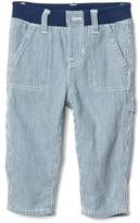 Gap Railroad stripe denim carpenter pants
