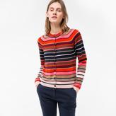 Paul Smith Women's Mixed-Stripe Lambswool Cardigan
