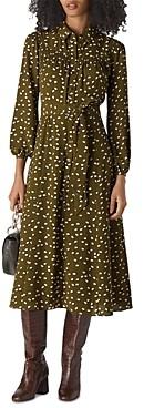 Whistles Shadow-Spot Printed Shirt Dress