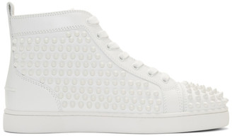 Christian Louboutin White Louis Spikes Sneakers
