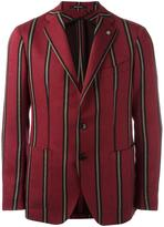 Tagliatore striped single breasted blazer