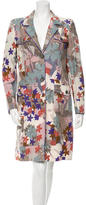 Etro Floral Print Long Sleeve Coat