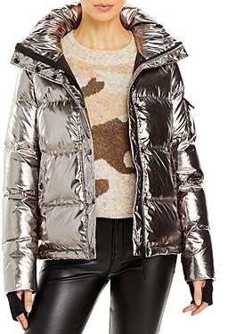 Aqua Metallic Ella Puffer Jacket - 100% Exclusive