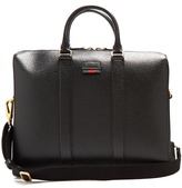 GUCCI Agora grained-leather briefcase