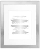 """Edgewood Parkwood 11""""x14"""" Frame With 8""""x10"""" Mat, Silver"""
