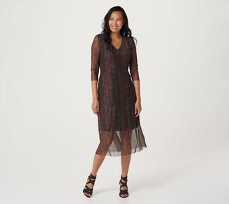 Du Jour Printed Mesh Dress