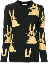 Peter Jensen rabbit knit intarsia jumper