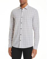 Michael Kors Lewis Grid Check Slim Fit Button-Down Shirt