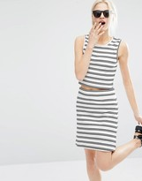 Weekday Stripe Co Ord Top With Back Detail