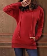 Beyond This Plane Women's Sweatshirts and Hoodies Burgundy - Burgundy Kangaroo-Pocket Hoodie - Women & Plus