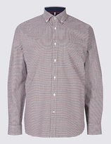 Blue Harbour Luxury Stretch Oxford Checked Shirt
