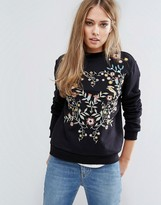 Warehouse Embroidered Sweater