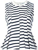 Alexander Wang striped peplum top - women - Cotton - S