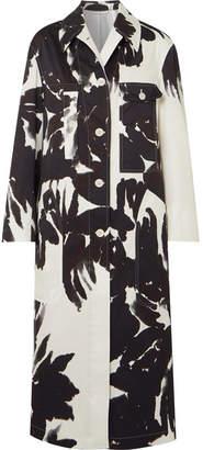 Dries Van Noten Printed Cotton-twill Coat - Black