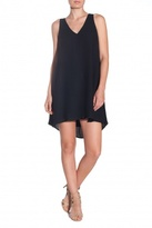 Twelfth Street by Cynthia Vincent Crepe Swing Dress Black