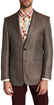 Versace Notch Lapel Two Button Print Sportcoat