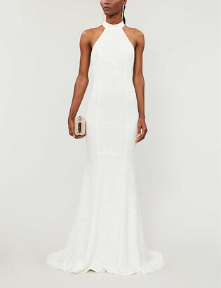Whistles Maria halter lace wedding dress