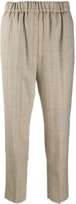 Peserico Pinstripe Elasticated Waist Trousers