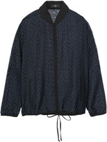 Tibi Silk-trimmed broderie anglaise cotton jacket