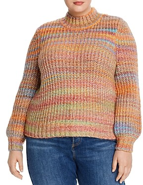Aqua Curve Rainbow Puff-Sleeve Sweater - 100% Exclusive