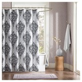 Nobrand No Brand Chelsea Paisley Print Microfiber Shower Curtain - Black