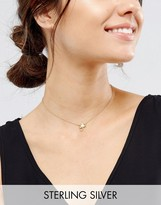 Asos Sterling Silver Gold Plated Scorpio Necklace
