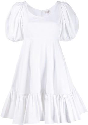 Alexander McQueen puff sleeves short dress
