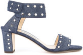 Jimmy Choo Veto 65 denim sandals - women - Cotton/Leather - 36.5
