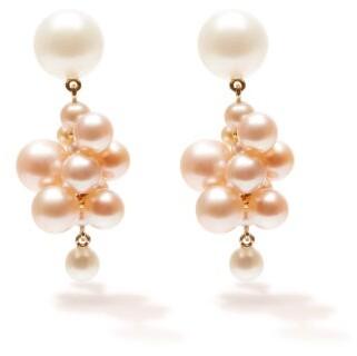 Sophie Bille Brahe Boticelli Rose Pearl & 14kt Gold Drop Earrings - Pearl