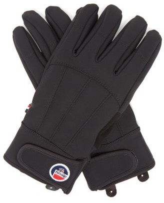 Fusalp Glacier Soft-shell And Leather Gloves - Black
