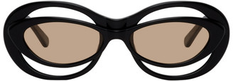 Martine Rose Black Bug-Eye Cat-Eye Sunglasses