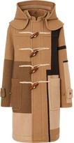 Burberry panelled duffle coat