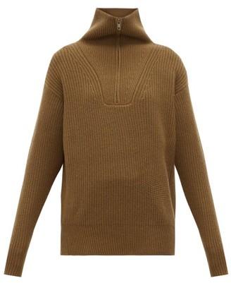 Nili Lotan Beni Half-zip Cashmere Sweater - Womens - Brown