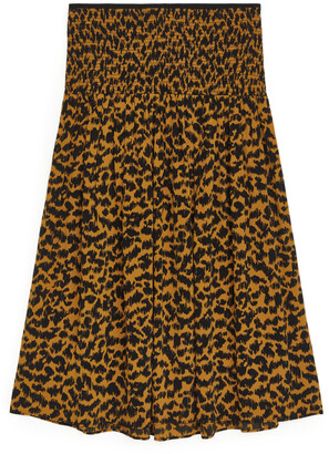 Arket Smocked Midi Skirt