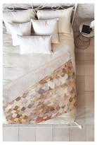 "Deny Designs Beige Geometric Monika Strigel Really Mermaid Gold Sherpa Throw Blanket (50""X60"
