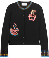 Peter Pilotto Appliquéd Wool Cardigan - Black