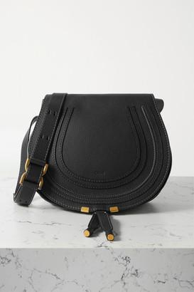 Chloé Marcie Medium Textured-leather Shoulder Bag - Black
