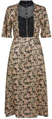 Sandro Paisley Print Midi Dress